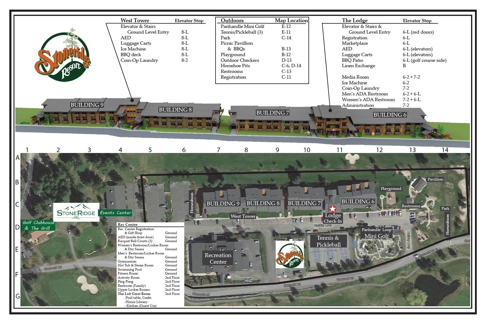 Stoneridge Resort Property Map